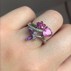 Sterling Silver Multi Gemstone Ring